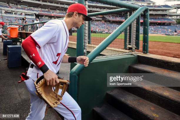 Washington Nationals shortstop Trea Turner takes the field for an MLB game between the Miami Marlins and the Washington Nationals on August 30 at...