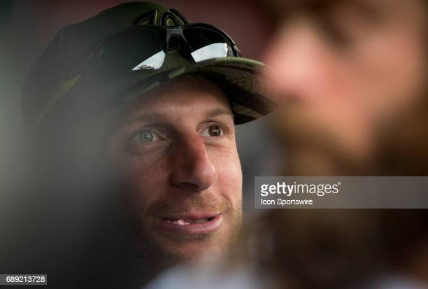 Washington Nationals starting pitcher Max Scherzer in the dugout during a MLB game between the Washington Nationals and the San Diego Padres on May...