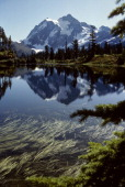 USA Washington North Cascades National Park Mt Shuksan Reflecting In Alpine Lake