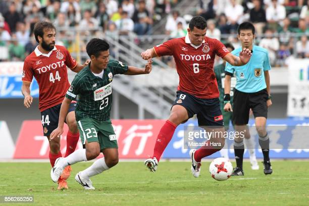 Washington of Nagoya Grampus in action during the JLeague J2 match between FC GIfu and Nagoya Grampus at Nagaragawa Stadium on October 1 2017 in Gifu...