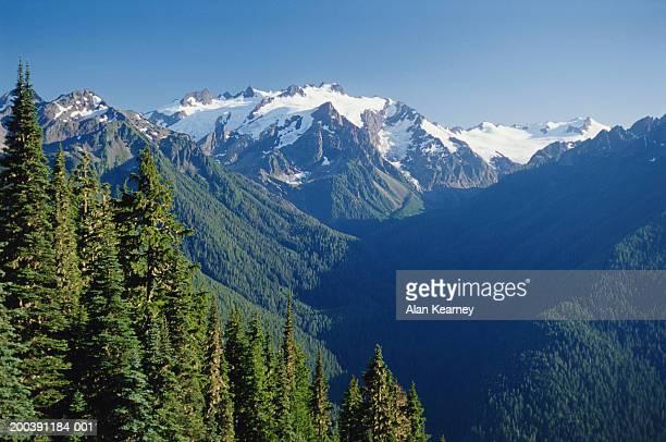 USA, Washington, Olympic National Park, High Divide, Mount Olympus