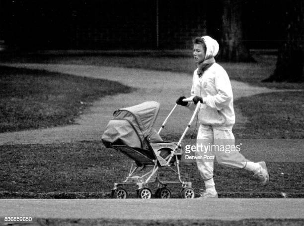 Washington Park Marianne Berglund jogging with her infant son in a stroller son is Jonas Berglund Credit The Denver Post