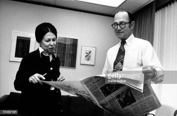 Washington Post editor Phil Geyelin with reporter Meg Greenfield