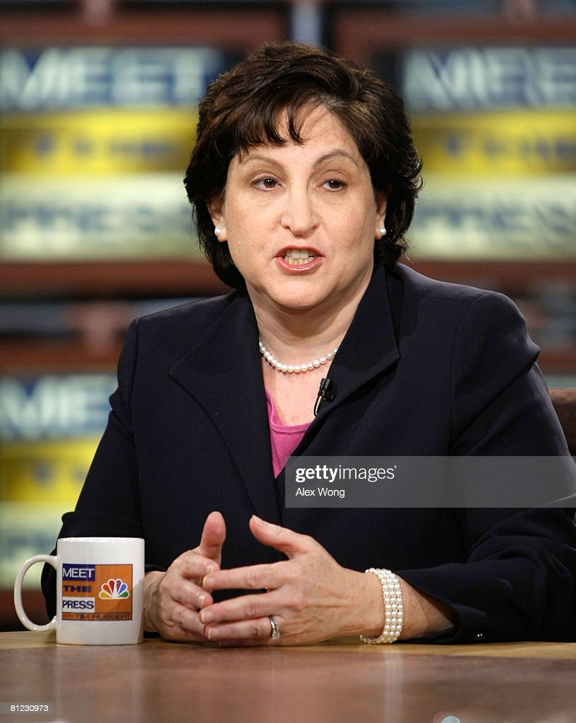 Washington Post editorial writer and columnist Ruth Marcus speaks during a taping of 'Meet the Press' at the NBC studios May 25, 2008 in Washington, DC. Marcus discussed topics related to the presidential election in November, 2008.