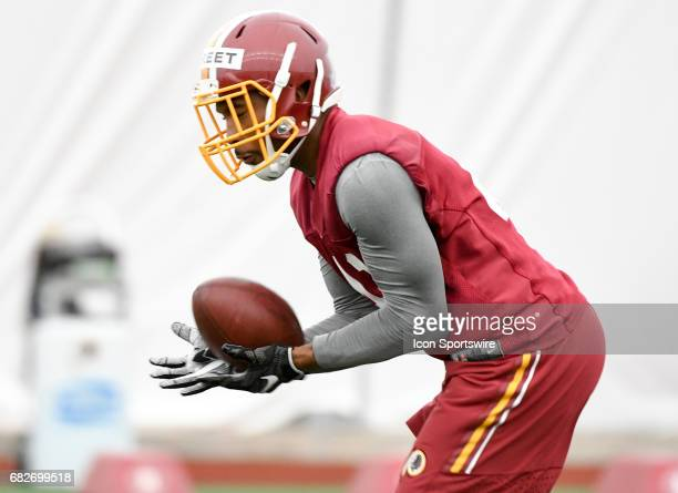 Washington Redskins defensive back Bradley Street participates in the Redskins rookie minicamp on May 13 at Redskins Park in Loudoun County