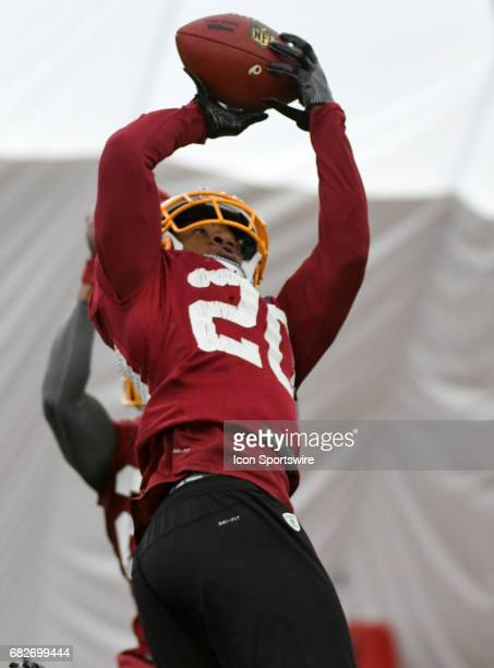 Washington Redskins draft pick defensive back Joshua Holsey participates in the Redskins rookie minicamp on May 13 at Redskins Park in Loudoun County