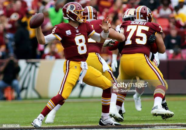 Washington Redskins quarterback Kirk Cousins gets set to throw during a match between the Washington Redskins and the San Francisco 49ers on October...