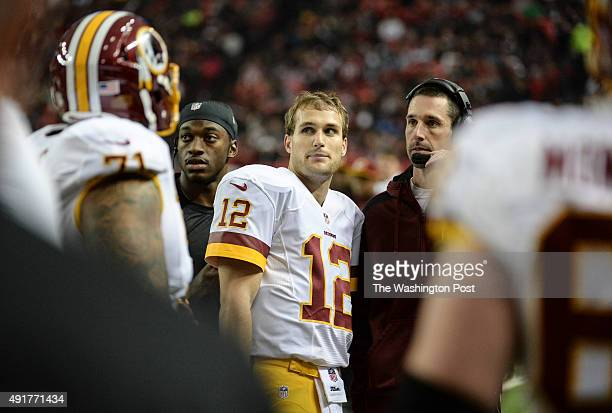 Washington Redskins quarterback Robert Griffin III Washington Redskins quarterback Kirk Cousins and Washington Redskins offensive coordinator Kyle...