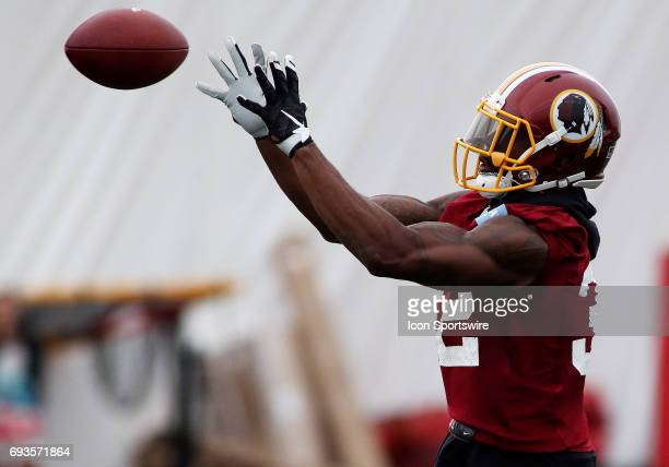 Washington Redskins running back Earl Wolff IV in action during an OTA practice session on June 07 at Inova Sports Performance Center at Redskins...