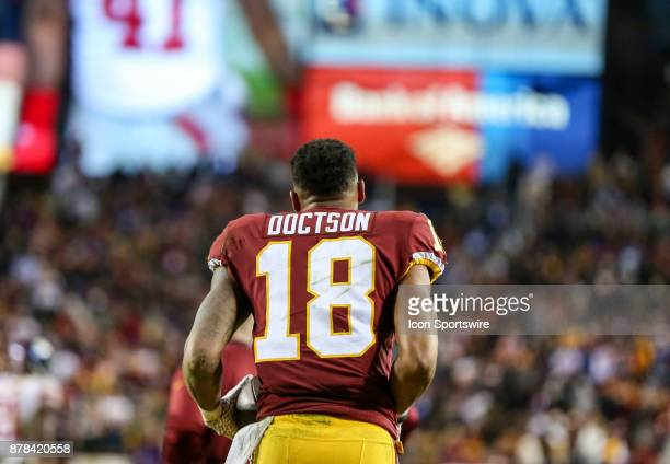Washington Redskins wide receiver Josh Doctson after scoring the go ahead touchdown in the fourth quarter during a NFL game between the Washington...