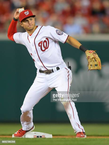 Washington shortstop Trea Turner during the Washington Nationals defeat of the Miami Marlins 6 4 at Nationals Park in Washington DC April 5 2017