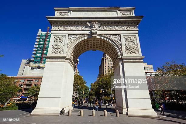 Washington square arch, New York City, USA