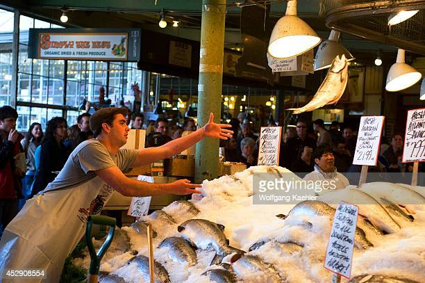 Washington food stock photos and pictures getty images for Flying fish seattle
