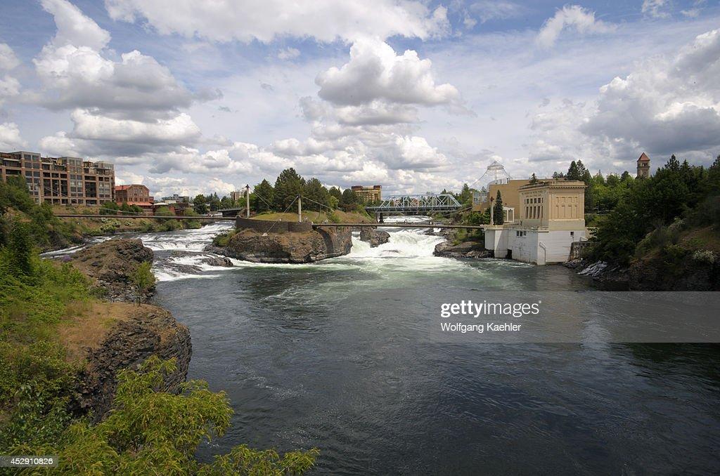 USA Washington State Spokane Riverfront Park Spokane River And Falls