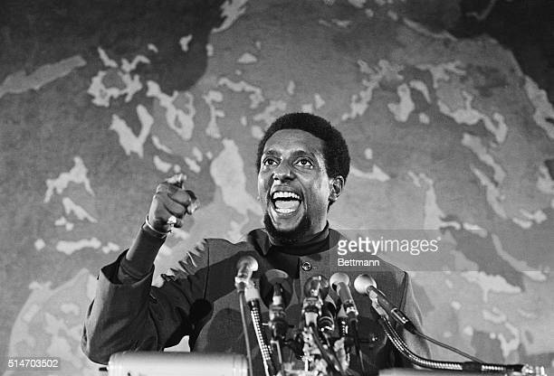 Stokely Carmichael former leader of the Student Nonviolent Coordinating Committee is back on the scene after having left the country for a period He...