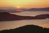 USA, Washington, Sun Juan Islands, sunset
