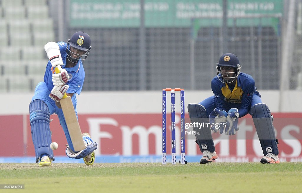 Washington Sundar of India bats during the ICC U19 World Cup Semi-Final match between India and Sri Lanka on February 9, 2016 in Dhaka, Bangladesh.