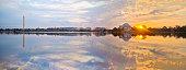 Washington Tidal Basin Sunrise Panorama