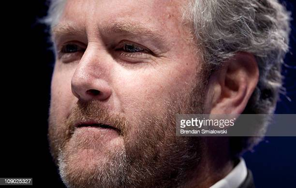 Washington Times commentator and Breitbartcom webmaster Andrew Breitbart pauses while speaking during the final day of the American Conservative...