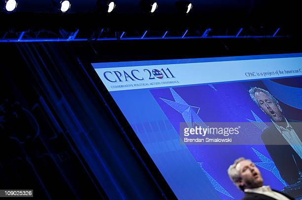 Washington Times commentator and Breitbartcom webmaster Andrew Breitbart speaks during the final day of the American Conservative Union's...