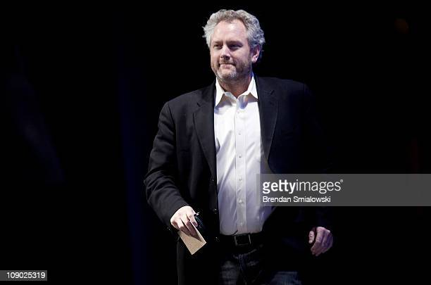 Washington Times commentator and Breitbartcom webmaster Andrew Breitbart arrives to speak during the final day of the American Conservative Union's...