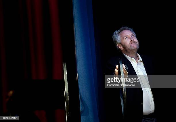 Washington Times commentator and Breitbartcom webmaster Andrew Breitbart waits to speak during the final day of the American Conservative Union's...
