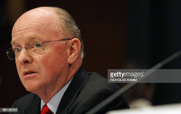 David O'Reilly chairman and CEO of Chevron Corporation testifies before a joint hearing of the Senate Commerce Science and Transportation Committee...
