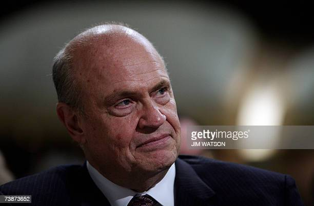 Former Senator Fred Thompson RTN smiles at the Washington Hilton Hotel for the National Catholic Prayer Breakfast 13 April 2007 After disclosing that...