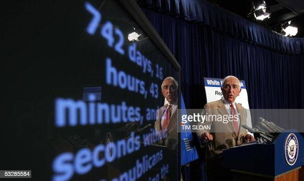 Senator Frank Lautenberg unveils the Senate Democrats Accountability Clock to highlight the failure by Senate Republicans to fulfill their...