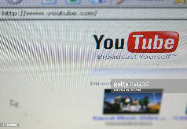 View of the homepage of the YouTube website in Washington 15 May 2007 AFP PHOTO/Nicholas KAMM
