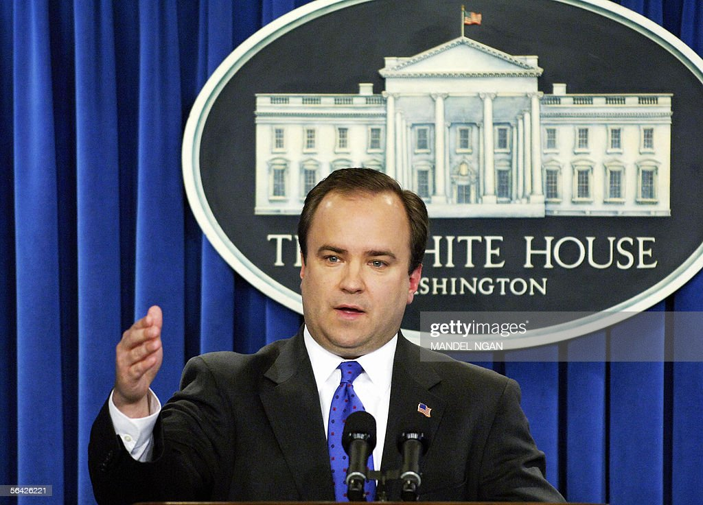 White House spokesman Scott McClellan speaks during a briefing 13 December 2005 at the White House in Washington DC AFP PHOTO/Mandel NGAN