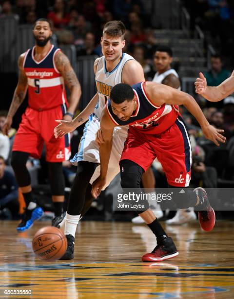 Washington Wizards forward Otto Porter Jr steals the ball from Denver Nuggets forward Juancho Hernangomez during the third quarter on March 8 2017 in...