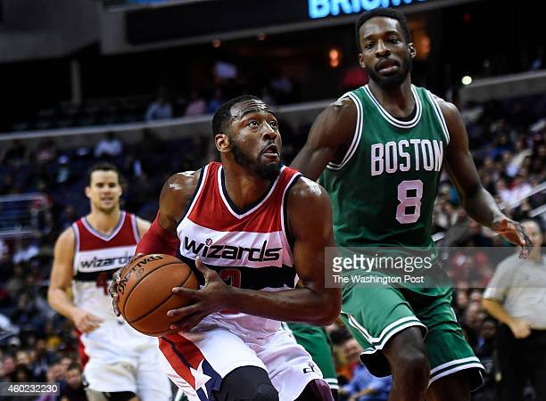 Washington Wizards guard John Wall drives towards the basket during the second half of the game between the Washington Wizards and the Boston Celtics...