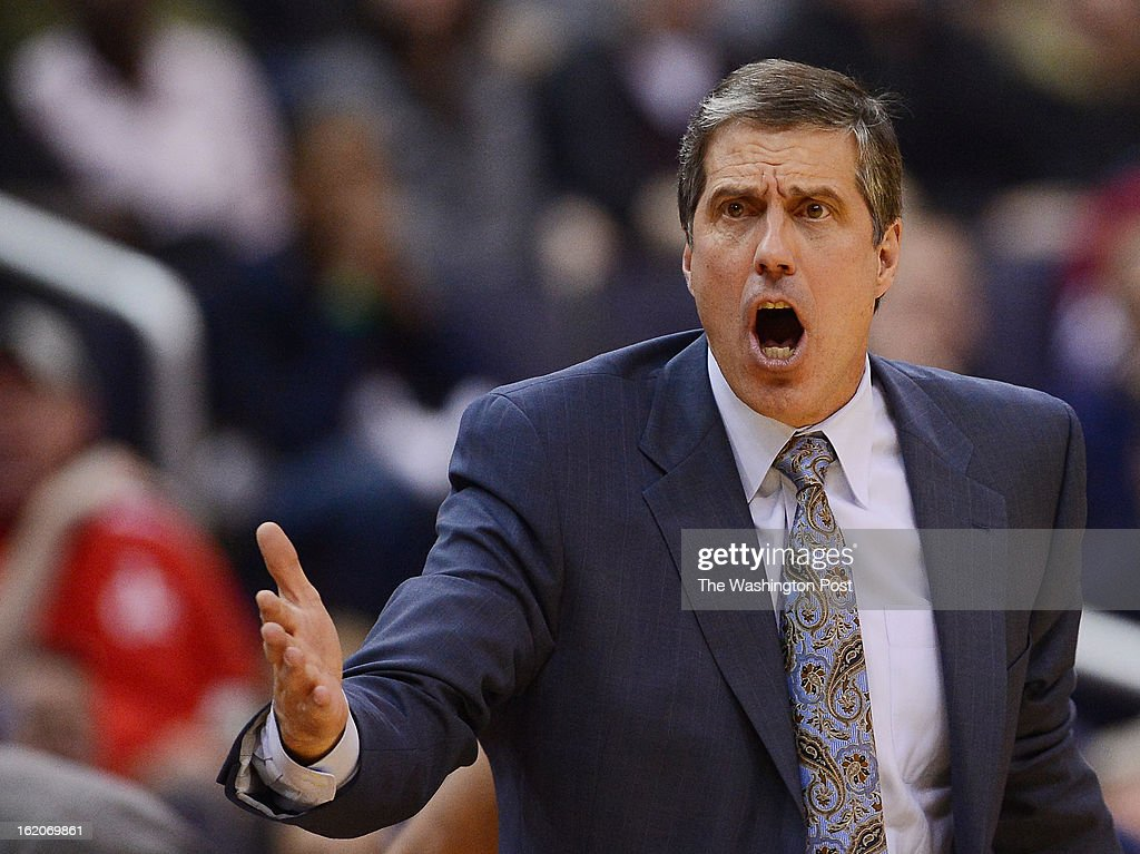 Washington Wizards head coach Randy Wittman during the second half of the game at Verizon Center on Friday, January 25, 2013. The Washington Wizards defeated the Minnesota Timberwolves 114-101.