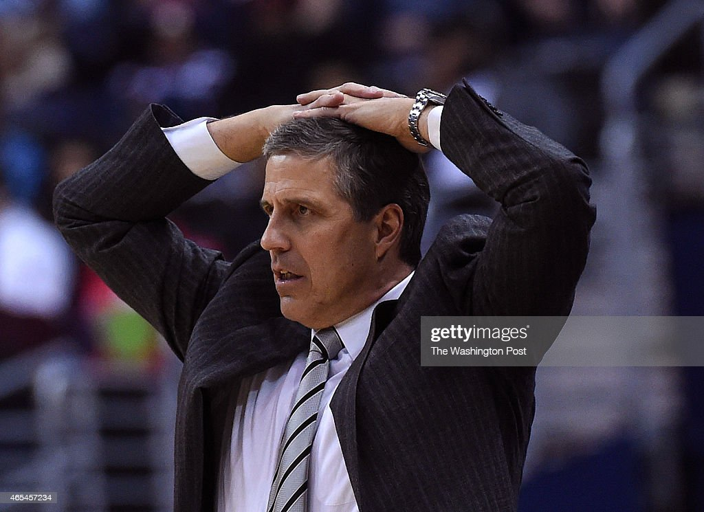 Washington Wizards head coach <a gi-track='captionPersonalityLinkClicked' href=/galleries/search?phrase=Randy+Wittman&family=editorial&specificpeople=679109 ng-click='$event.stopPropagation()'>Randy Wittman</a> reacts to a foul call during the second half of the game between the Washington Wizards and the Miami Heat at the Verizon Center on Friday, March 6, 2015. The Washington Wizards defeated the Miami Heat 99-97.