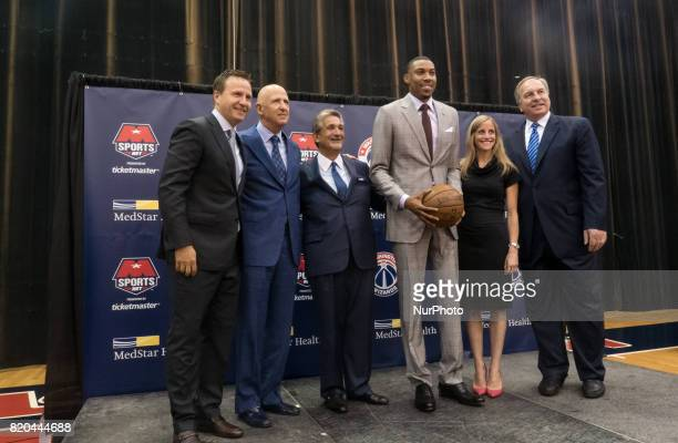 Washington Wizards head coach Scott Brooks Fame Agency owner David Falk Wizards owner Ted Leonsis player Otto Porter Fame Agency partner Danielle...