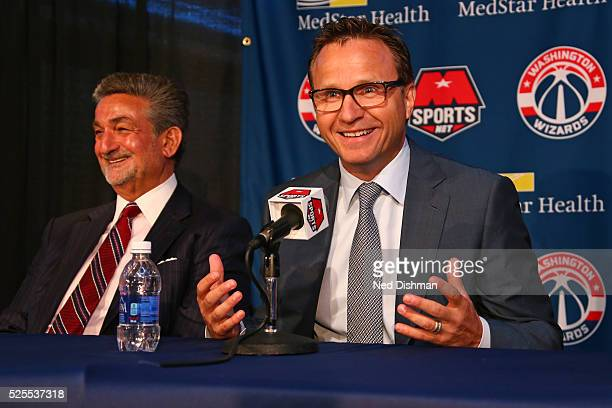 Washington Wizards head coach Scott Brooks speaks during his introduction press conference on April 27 2016 at Verizon Center in Washington DC NOTE...
