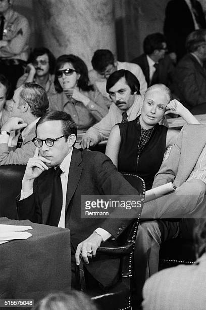 Fired white House counsel John WDean III and his wife Maureen near the end of the fourth day of Dean's testimony before the Senate Watergate...