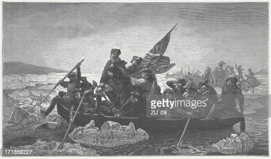Washington's crossing of the Delaware River, 1776, published in 1882