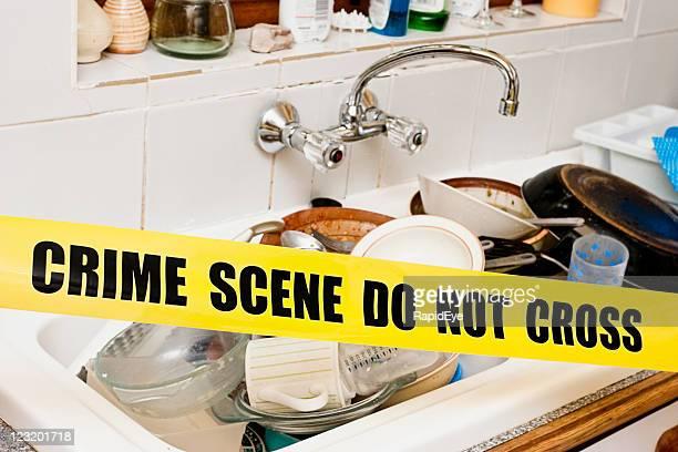 Washing-up crime