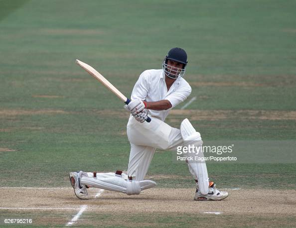 Wasim Akram batting for Pakistan during the 1st Test match between England and Pakistan at Lord's Cricket Ground London 25th July 1992