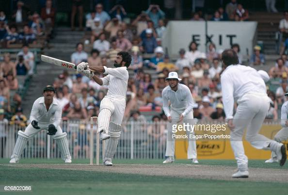 Wasim Raja batting Pakistan during the 3rd Test match between Pakistan and Australia at the MCG Melbourne Australia 12th December 1981 The bowler for...