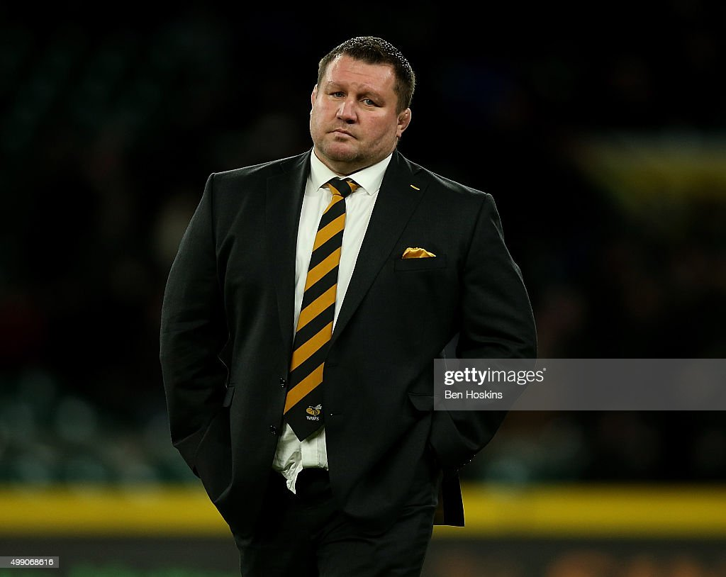 Wasps Director of Rugby Dai Young looks on ahead of the Aviva Premiership match between London Irish and Wasps at Twickenham Stadium on November 28...