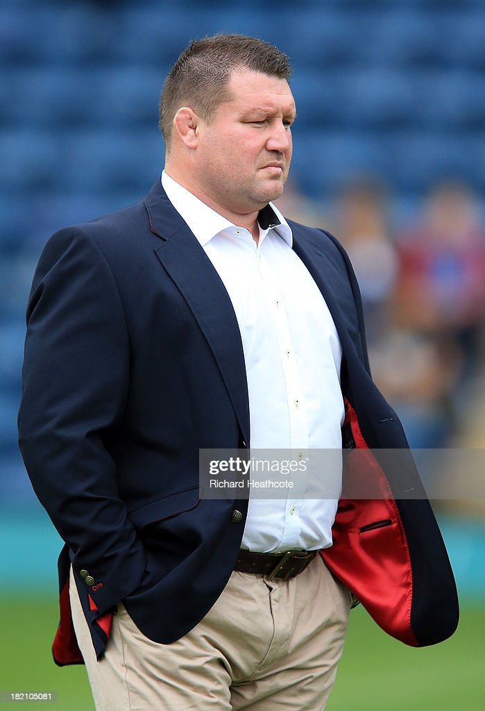 Wasps Director of Rugby Dai Young looks on during the Aviva Premiership match between London Wasps and Worcester Warriors at Adams Park on September...