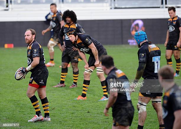 Wasps fly half Andy Goode engages during the European Rugby Champions Cup Castres vs Wasps on December 7 at the Stade PierreAntoine in Castres AFP...