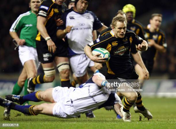 Wasps' Josh Lewsey breaks away during the Heineken Cup Pool Two match at Twickenham Stadium London