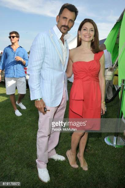 Wass Stevens and Jean Shafiroff attend MercedesBenz Polo Challenge Opening Weekend at Blue Star Jets Field at Two Trees Farm on July 24 2010 in...