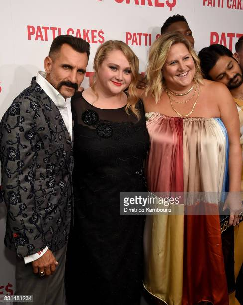 Wass Stevens Danielle Macdonald Bridget Everett and Mamoudou Athie attend the 'Patti Cake$' New York Premiere at The Metrograph on August 14 2017 in...