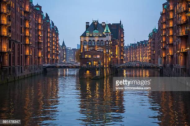 Wasserschloss in the Speicherstadt in Hamburg