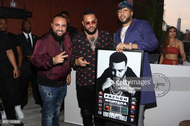 Wassim 'SAL' Slaiby Belly and French Montana attend the French Montana Album Release at Samsung 837 on July 20 2017 in New York City